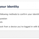 Please confirm your identity